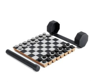 portable chess and checkers set