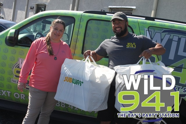 Thanks to Subway, we were able to feed our Office Hero, Kary-Ann and the rest of her co-workers.
